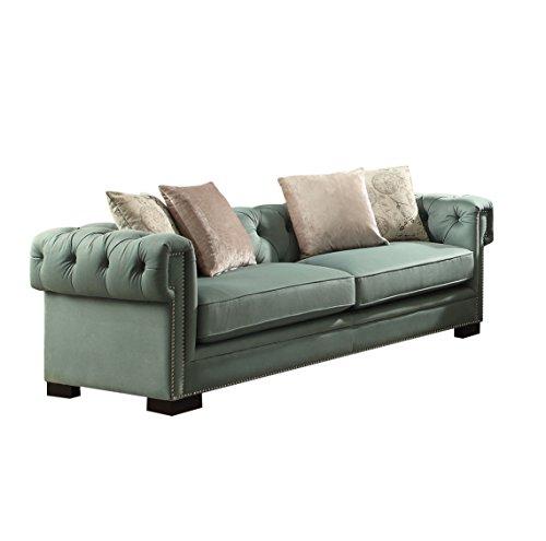 Acme Furniture 54145 Eulalia Sofa with 4 Pillows, Polished Velvet