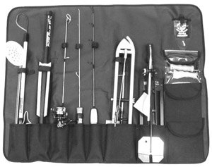 HT Tip-Up/Ice Rod Tote Carrying Case with Handle ()