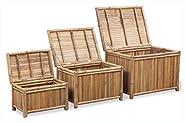 PROGLEAM Storage Chest, Storage Boxes 3 Pieces Bamboo