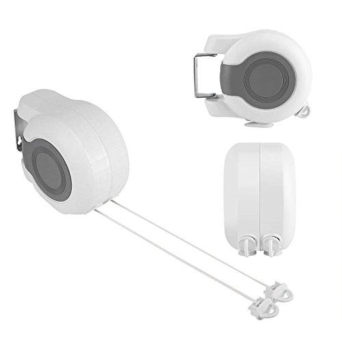 WXLAA Retractable Washing Line Double Wall-Mounted Towel Rac
