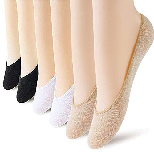 (6 Pairs No Show Socks Women No Show Liner Socks Womens No Show Socks Thin Low Cut Casual Socks Non Slip)