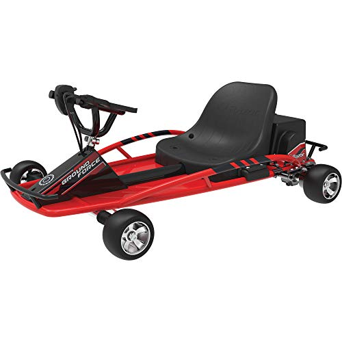 Razor Ground Force 24V Rechargeable Electric Go Kart, up to 12 MPH, Red