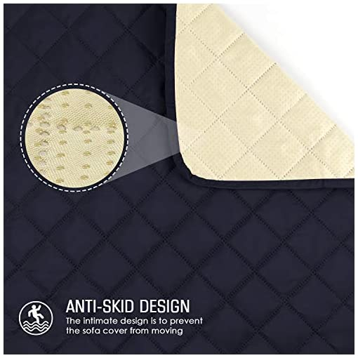 TAOCOCO Copridivano Poltrona Impermeabile Divano Protector Slipcovers (Blu Scuro, 1 posti 56 * 190cm)