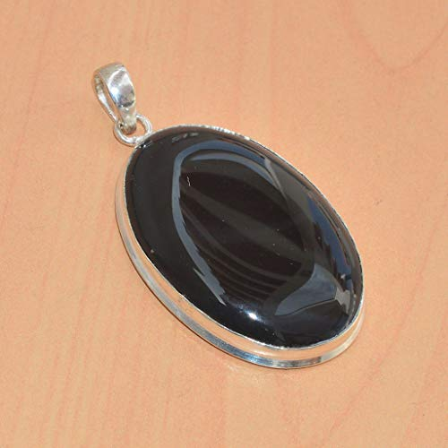 VICTORIANJEWELS 925 Silver Plated Balck Onyx New Pendant