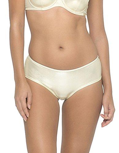Sapph 1627-137-18-01 Women's Fabulous Glam Gold Knicker Shorties Boyshort LGE - Gold Shorty Shorts