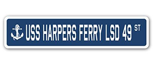 USS Harpers Ferry LSD 49 ストリートサイン アメリカ海軍退役軍人セーラーギフト 8