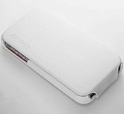 sneakers for cheap 3784e 908dd SGP Leather Case Argos for Apple iPhone 4/4S White