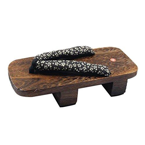 Qianle Mens Geta Giapponese Tradizionale Infradito Sandali Scarpe Di Legno # 4