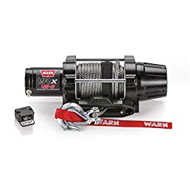 WARN 101040 VRX 45-S Powersports Winch with Handlebar Mounted Switch and Synthetic Rope: 1/4″ Diameter x 50′ Length, 2.25 Ton (4,500 lb) Capacity