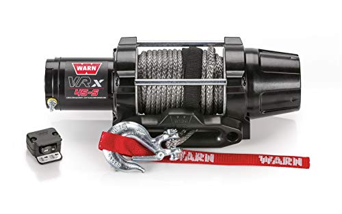 "WARN 101040 VRX 45-S Powersports Winch with Handlebar Mounted Switch and Synthetic Rope: 1/4"" Diameter x 50"