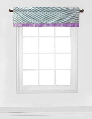 Bacati Isabella Girls Paisley Window Valance, Lilac/Purple/Aqua ()