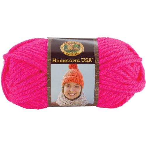 (Lion Brand Yarn 135-400 Hometown USA Yarn, Neon)