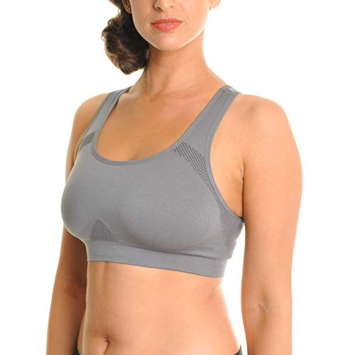 Angelina Seamless Double Layer Racerback Sports Bras (3-Pack), SE2001_SM