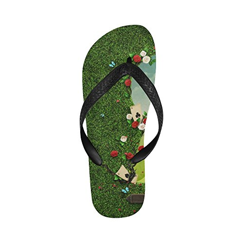 Roses Grassland Flip Women Flops Beach With Men Green For Sandals Story D UnIxAqEXw