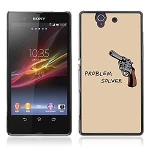 Designer Depo Hard Protection Case for Sony Xperia Z L36H / Gun Poster