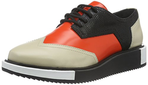 Hot Women''s United Wing Nude Geo mist Red Beige Derbys Lo UwTw8q