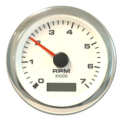 "TeleFlex Sierra International 62565P White Premier Pro Electric Tachometer/Hourmeter, 3"""
