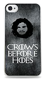 Crows Before Hoes Jon Snow Game Of Thrones White Hardshell Case for iPhone 6 (4.7 inch) i6