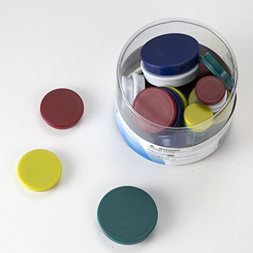 Officemate Assorted Heavy-Duty Magnets, Circles, Assorted Sizes & Colors, 30/Tub (92501) by Officemate (Image #2)