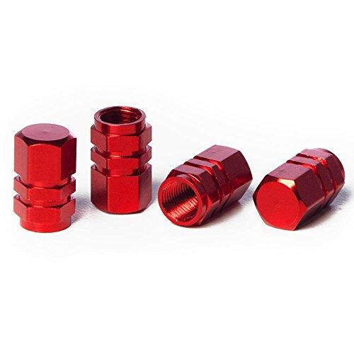 Hex Valve Stem Caps (Circuit Performance VC2 Series Red Aluminum Valve Stem Caps (Set of 4))