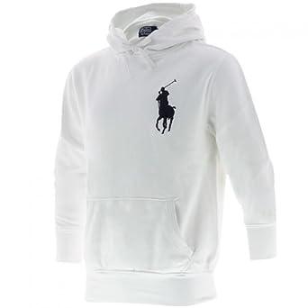 6f26eaf583d0b Sweat capuche blanc Ralph Lauren  Amazon.fr  Vêtements et accessoires