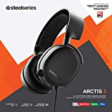SteelSeries Arctis 3 (2019 Edition) All-Platform Gaming Headset for PC, PlayStation 4, Xbox One, Nintendo Switch, VR, Android, and iOS - Black