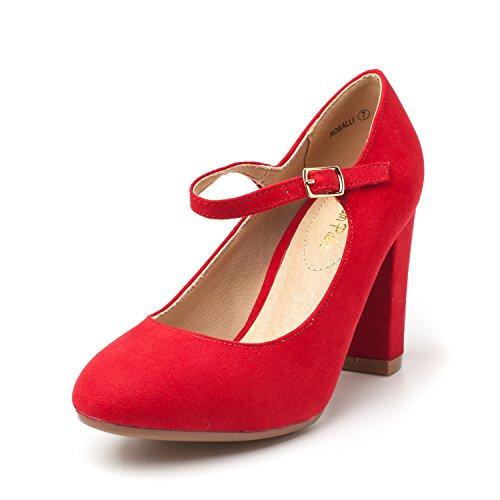 Dress Dream Classic Elegant Women's Heels Red Versatile Gloria New Pumps Platform Suede Pairs Shoes Stiletto 8r8qCS