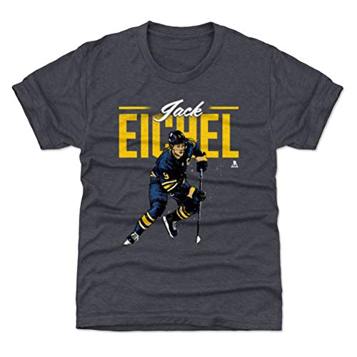 500 LEVEL Jack Eichel Buffalo Sabres Youth Shirt (Kids Small (6-7Y), Tri Navy) - Jack Eichel Retro Y WHT