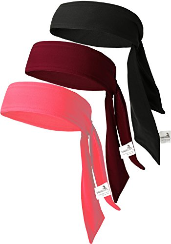 Dri Fit Head Tie - Head Tie Tennis Tie Hairband 3PCS & 6PCS Sweatbands Headbands Wristbands Head Wrap By VANCROWN