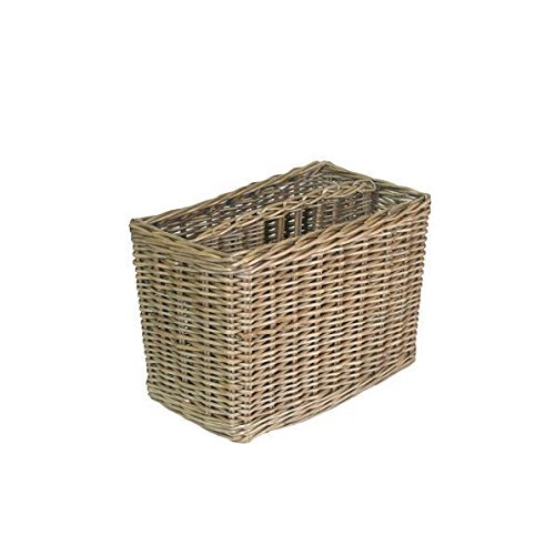 Antique Wash Finish Wicker Magazine Rack by Red Hamper