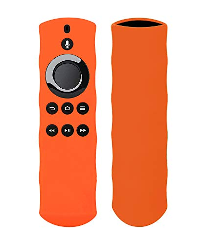 Silicon Case For Alexa Voice Remote for Fire TV and Fire TV Stick By 1XD GEAR (orange)
