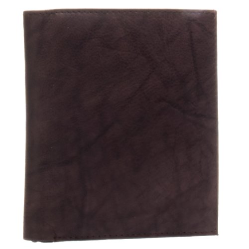 Bacci Mens Hipster Genuine Leather Bifold Wallet (Brown) ()
