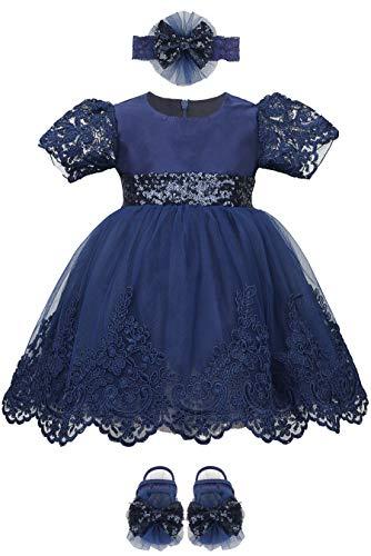 Lilax Baby Girl Newborn Lace Princess Wedding Party