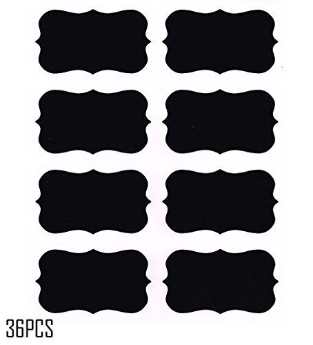 36pcs Chalkboard Labels Reusable Blackboard Stickers for the Kitchen