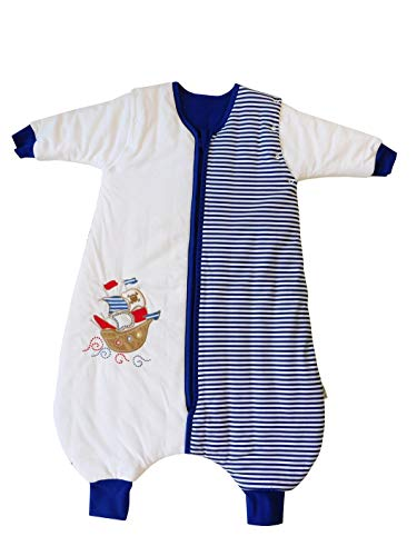 - Slumbersac Standard Toddler Sleeping Bag with Feet and Removable Long Sleeves 2.5 Tog - Pirate - 24-36 months/100cm