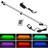 """LED Aquarium Light, Smiful Submersible Fish Tank Light Colorful Remote Control Waterproof Crystal Glass LEDs Lights Bar (23""""-Colorful)"""