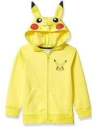 Boys' Costume Hoodie, Pikachu/Yellow, Small 6/7
