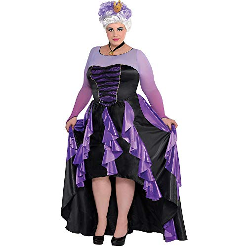 SUIT YOURSELF The Little Mermaid Ursula Costume Couture for Women, Plus Size, Includes a Dress, a Crown, and a Necklace -