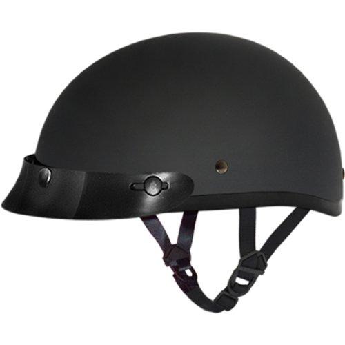 Daytona Basic/Custom D.O.T. Approved 1/2 Shell Harley Touring Motorcycle Helmet - Dull Black / ()
