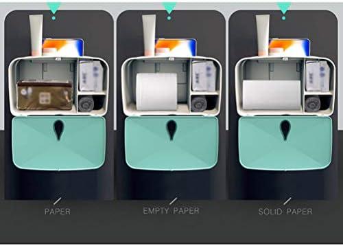 壁に取り付けられたトイレットペーパーホルダー、多機能収納ボックス浴室防水ティッシュボックスポータブルペーパーラックツール