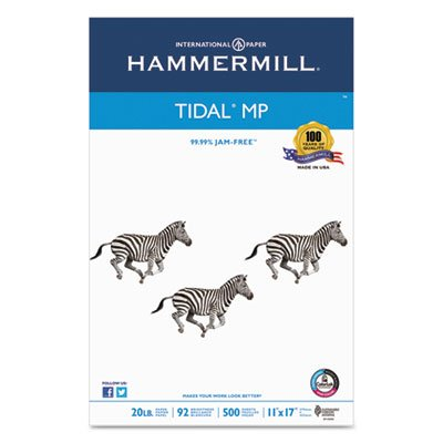 Tidal MP Copy Paper, 92 Brightness, 20lb, 11 x 17, White, 500 Sheets/Ream, Sold as 2 Ream by Hammermill