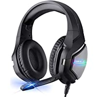 BlueFire Gaming Headset 3.5mm Noise Cancelling Over Ear Headphones Stereo Gaming Headset with Mic & LED Light for PS4…