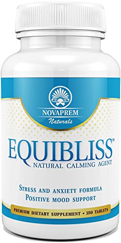 Anxiety and Stress Relief Supplement - 180 Tablets with a Premium Herbal Blend - Enhance Your Mood and Experience Total Relaxation - Reduce Stress and Anxiety the Natural Way with Equibliss