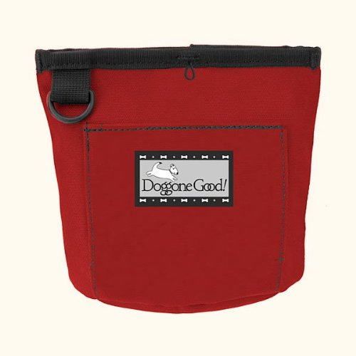 Trek and Train Bag for Treats from Doggone Good - Red