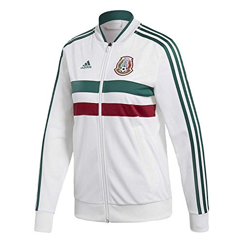 - adidas World Cup Soccer Mexico Women's 3 Stripes Track Top, XX-Large, White
