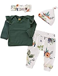 Newborn Baby Girl Clothes Girls Outfits Long Sleeve Tops Pants Set Infant Babies Boy Clothes