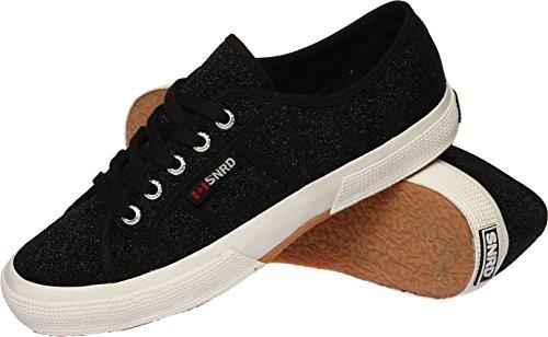 SNRD  SN119,  Damen Sneaker Low-Tops Schwarz