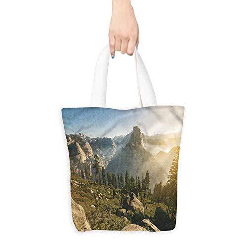 "Handbag or crossbody messenger bag,Yosemite Morning Dome Sunrise,Canvas Shopping Beach Cloth Tote,16.5""x14""x6.3"""