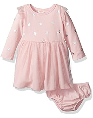 Baby Girls' Pink Star Tulle Skirt Dress