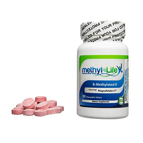 B-Methylated II – 3 mg of Methylfolate or L-5-MTHF as 6 mg Quatrefolic B-12 as Methylcobalamin – 3.75 mg – 90 Sublingual Tablets